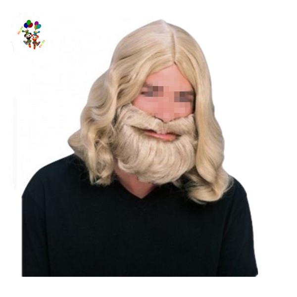 Biblical Jesus Wiseman Dress Up Man Adult Wigs And Beard Hpc-1348 - Buy  Adult Wigs,Wig And Beard,Man Wigs Product on Alibaba com