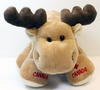 Canada Big Foot Moose 9 inch Plush Promotional Stuffed Animal Doll Toy