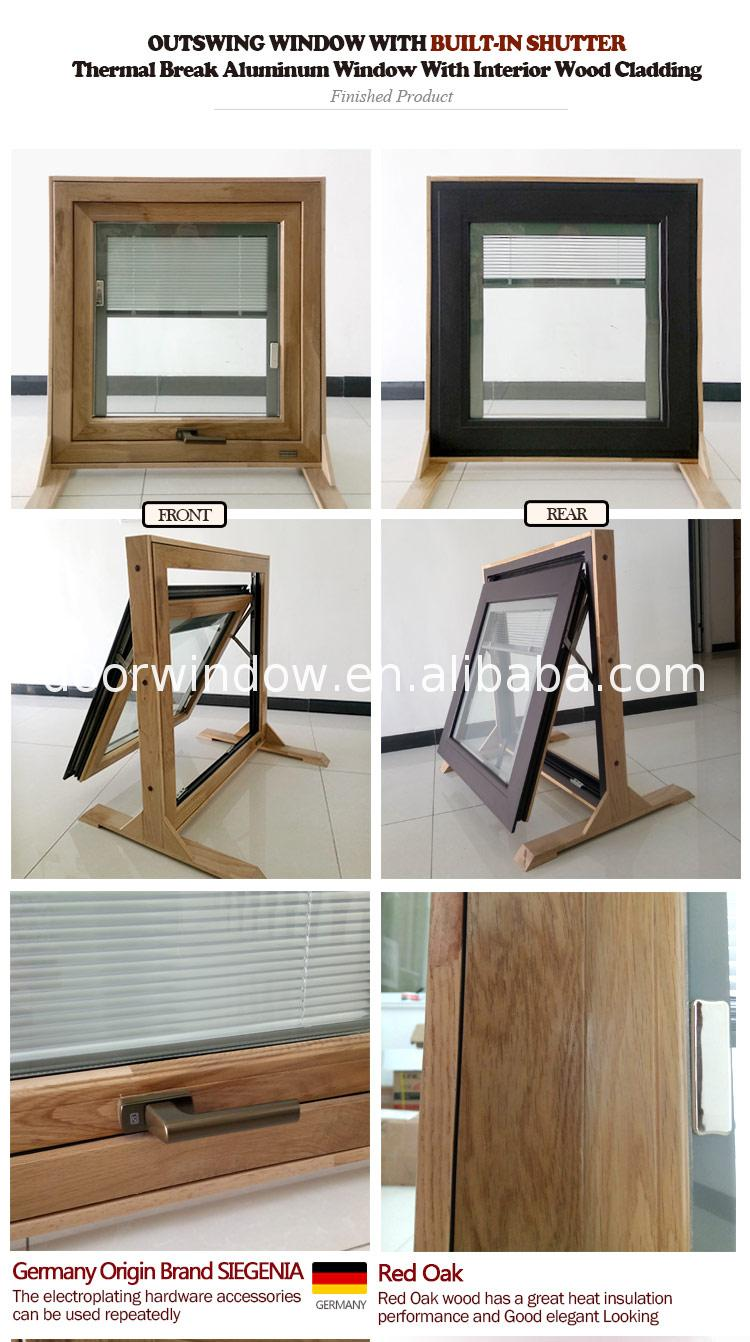 wood frame shutters awning window