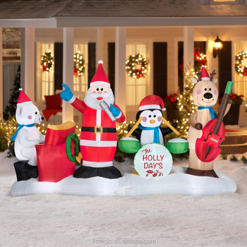 6 jazz band airblown inflatable christmas prop - Cheap Inflatable Christmas Decorations