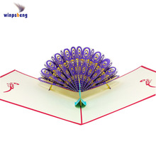 wholesale handcraft american 3d greeting card design your own birthday laser card