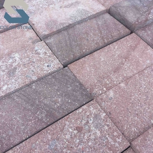 Cheap chinese red porphyry granite patio outdoor paver stones tiles