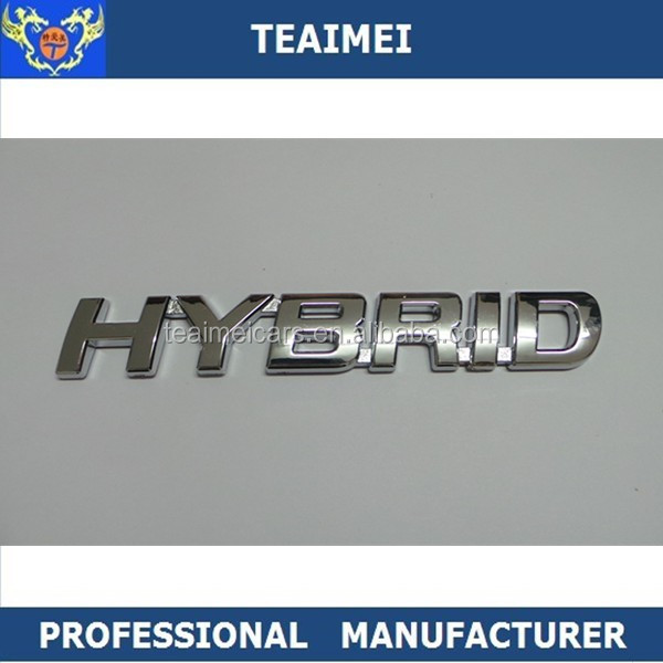 ABS Alloy Custom Self Adhesive Plastic Car Chrome Letters