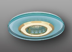 """Elco Lighting EL1442G 4"""" Low Voltage Accent Trim, 2"""" Height, 4.75"""" Length, 4.75"""" Width, 12V, 75W, Gold"""