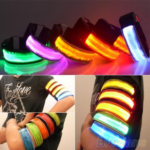 Из светодиодов безопасности светоотражающие ремень ремешок обертывание повязку блеск повязки для кроссовки 2JGH