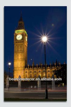 Big Ben Clock Tower Print On Canvaslight Up London Painting Buy