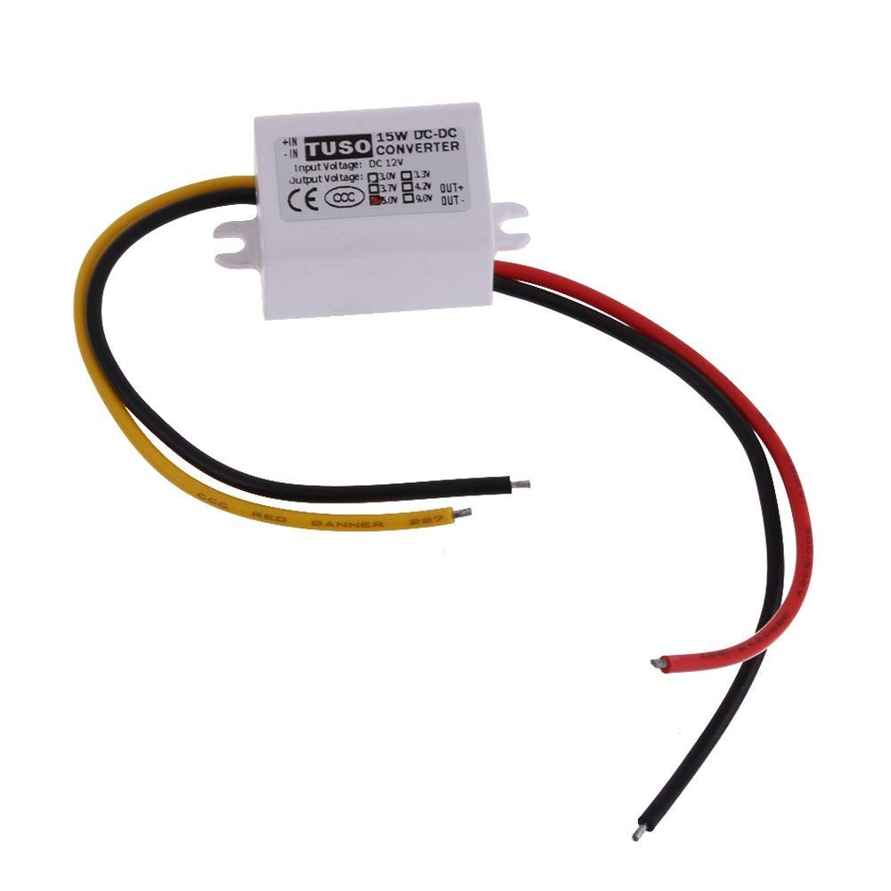 Vipeco DC12V Step Down to 5V 3A 15W Converter Car Led Display Power Supply Module