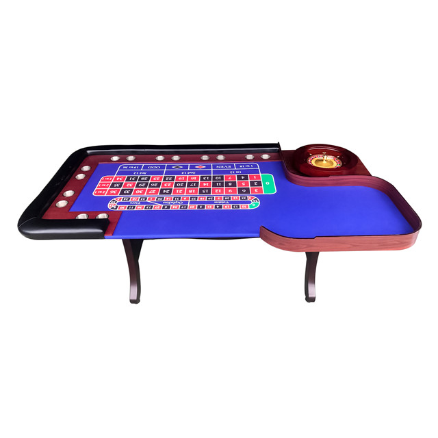 Профессиональный стол для казино с деревянной рулеткой