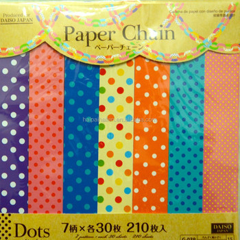 Assorted Polka Dots design hanging Paper Chains For birthday Party