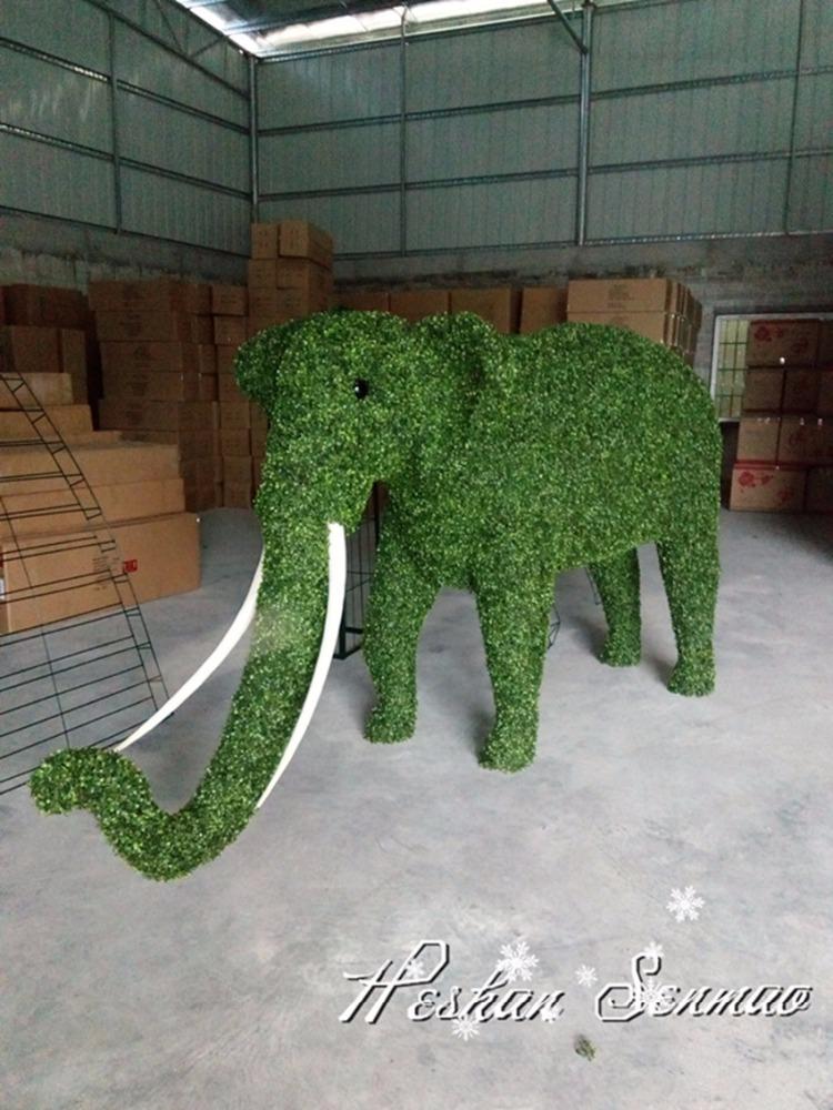 Other Asian Antiques Green Garden Ornament Elephants
