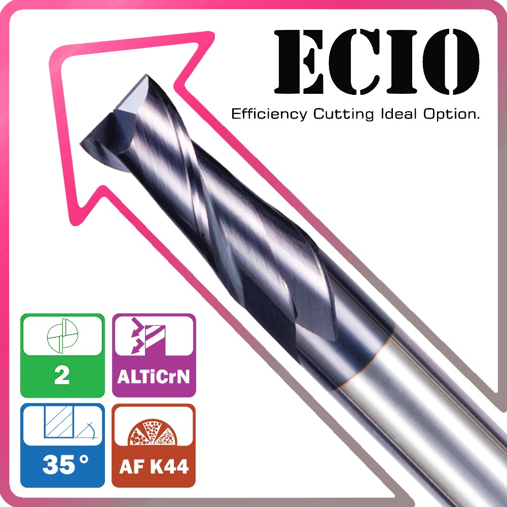 New coating and high quality solid carbide micro grain carbide 2 flutes square end mill with ALTiCrN made in Germany