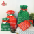 Red Color Green Rope Mesh Pattern White Merry Christmas Font Non Woven Bags For Packing Gift