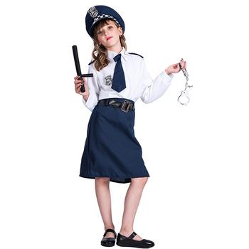 Girls Children Kids Police Uniform Cosplay Costume Halloween Career Costume  , Buy Kids Police Costume,Children Police Costume,Halloween Police Costume