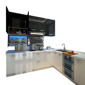 15years Experience Prefab Modern plastic kitchen cabinet from China