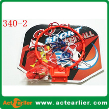2016 cheap custom logo indoor plastic basketball hoop toy for kids