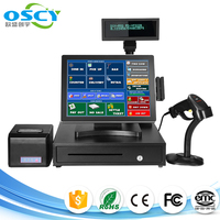 15 inch touch screen android pos , android pos terminal with printer