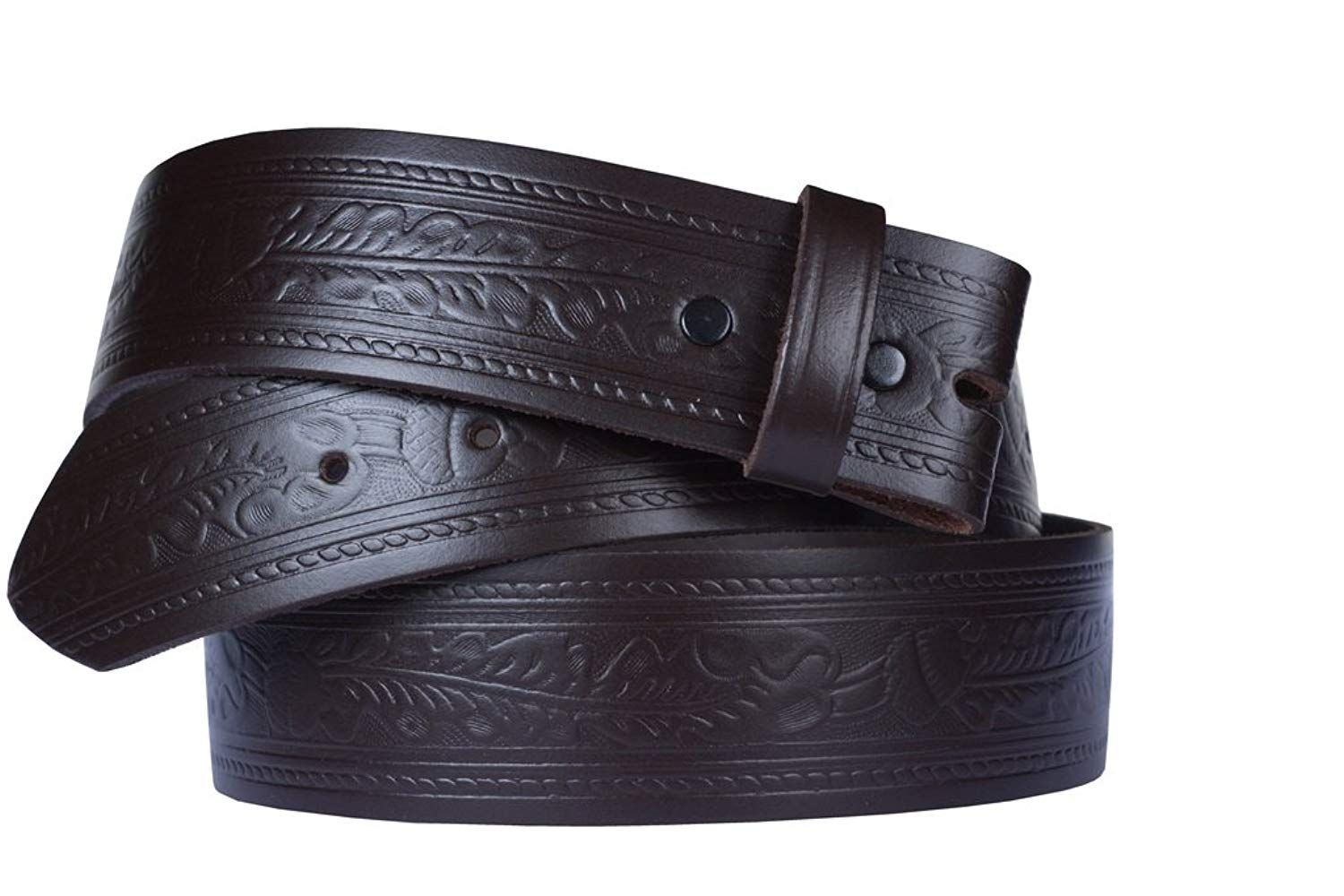 """Belt for Buckles 100% Top Grain One Piece Leather, 1.75"""" wide, Made in USA"""