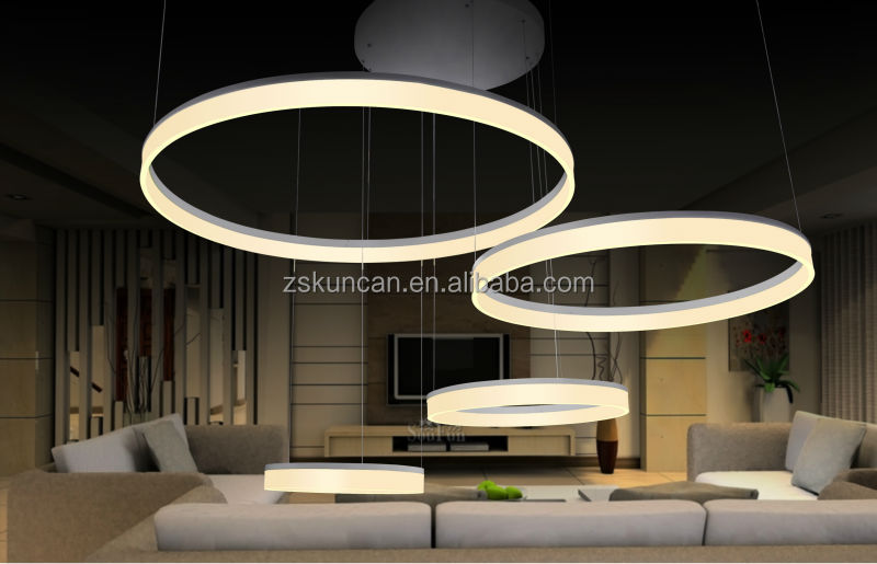 Modern design acrylic ring led chandeliers for lobby decoration modern design acrylic ring led chandeliers for lobby decoration mozeypictures Gallery