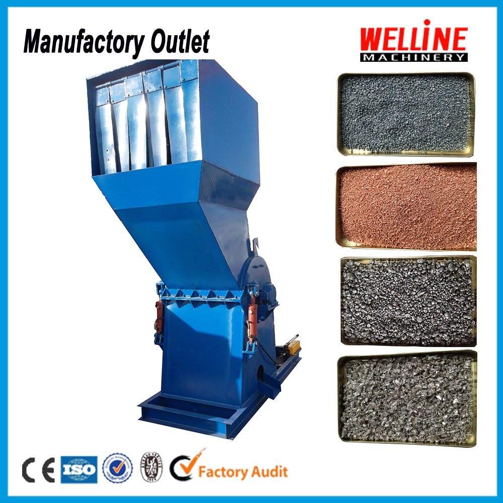 Low noise less power consumption aluminum can crusher,metal crusher production line