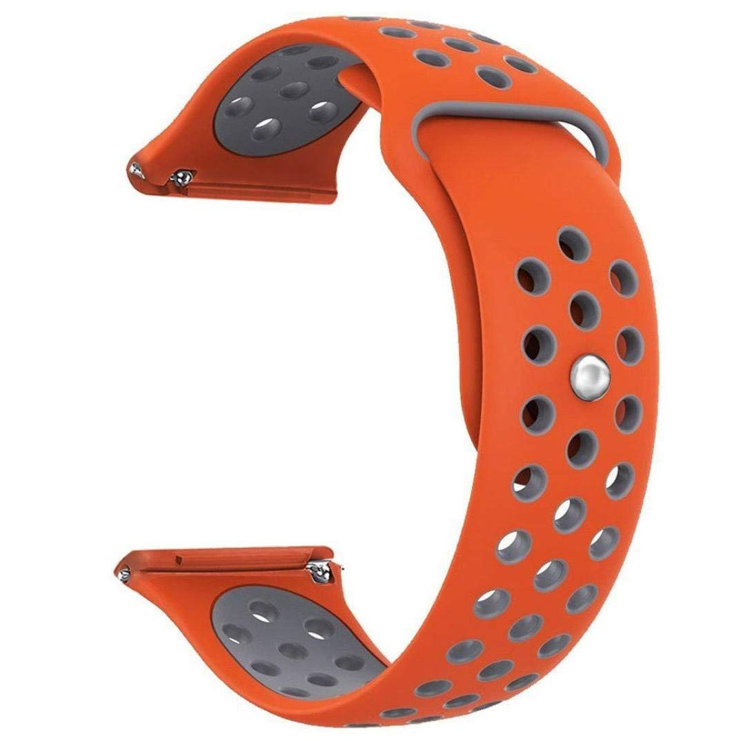 Owill Replacement With Ventilation Holes Soft Silicone Sports Strap For Fitbit Versa, Fits 140-215mm Wrist (Orange)
