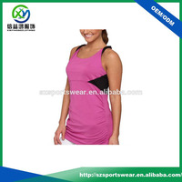 polyester sports singlet,combination gym tops,latest design tank top for women