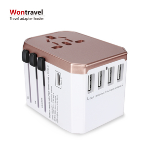 Wontravel CE FCC ROHS travel universal usb wall outlet EU AUS UK US plug adapter socket Type C phone charger