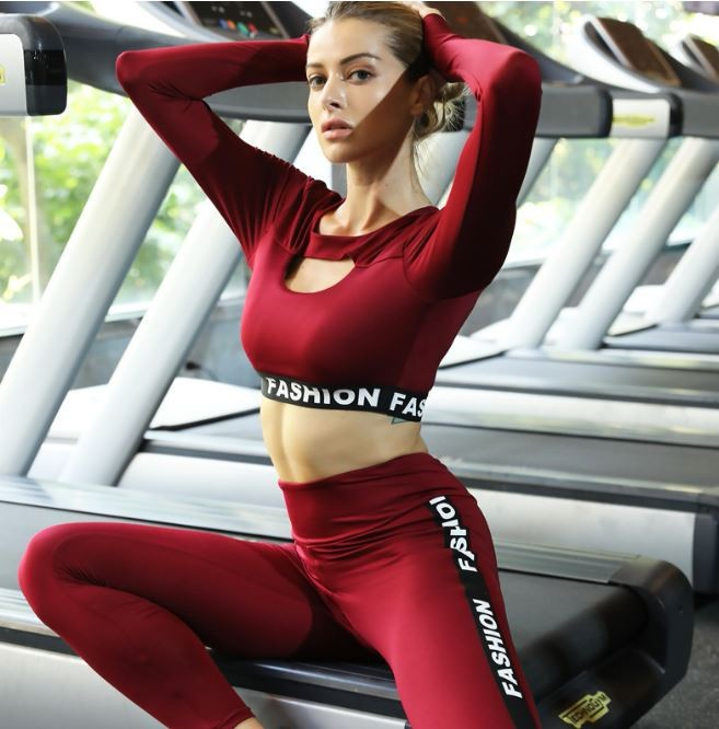 Ladies Gym Wear Custom Private Logo Tight Shirt and Pants Yoga Suit 11
