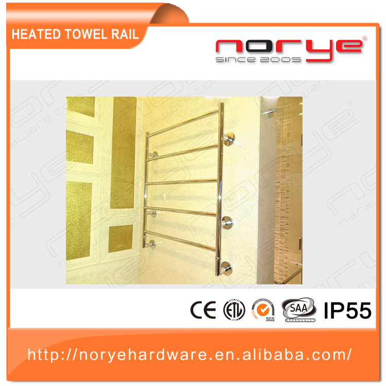 Fashion factory price heated towel rails stainless steel