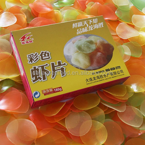 Colored Prawn Cracker with Origin China Dried Shrimp Chips