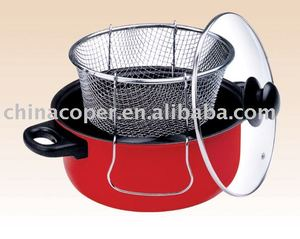 Carbon steel pasta pot with s/s basket --kitchenware