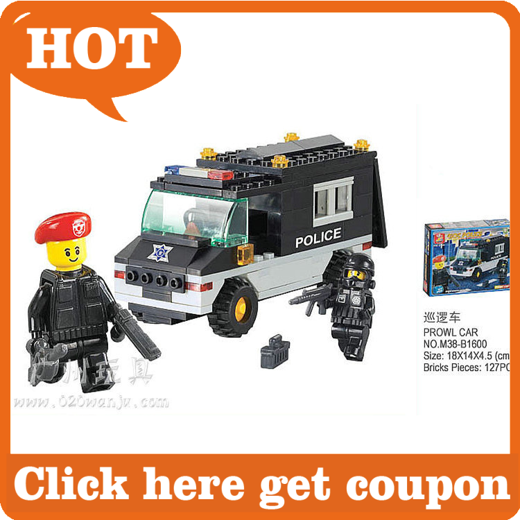 Compatible With LegoBuilding Block Set SLuBan M38 B1600 Riot cop car 128PCS 3D Model Educational building