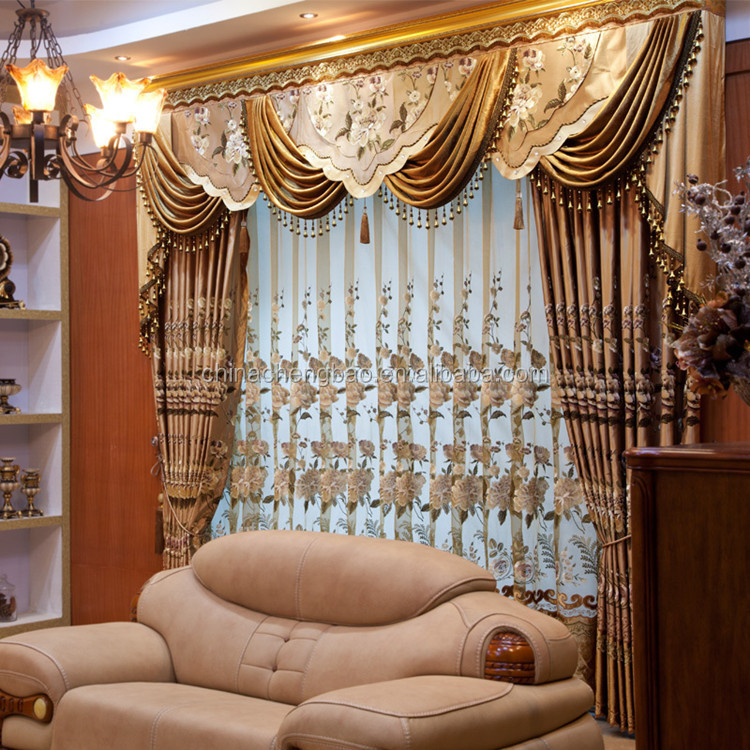 Motorized Fire Retardant Luxury Curtains Design Living Room