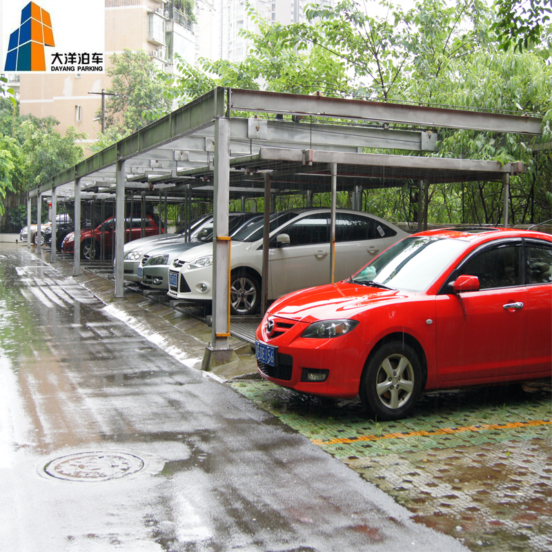 2 Level Car Lifting Equipment For Supermarket Basement Lift Parking