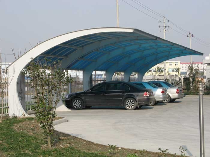 Galvanized Steel Design Car Parking Shed Parking Canopy