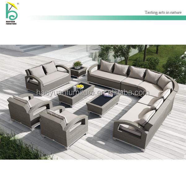 Muebles De Caña Para Patio Exterior en Forma de L, Sofá de Rejilla ...