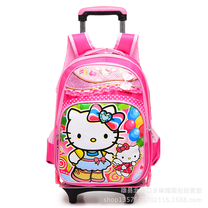 e7ca9fb4d72b Get Quotations · 2015 new school bags for girls with wheels trolley backpack  rolling backpack children school bags trolley