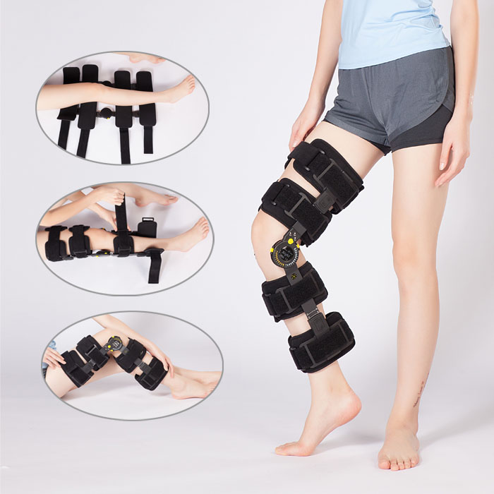 amazon most popular orthopedic knee brace hinge knee support medical post-op ROM angle adjustable knee brace