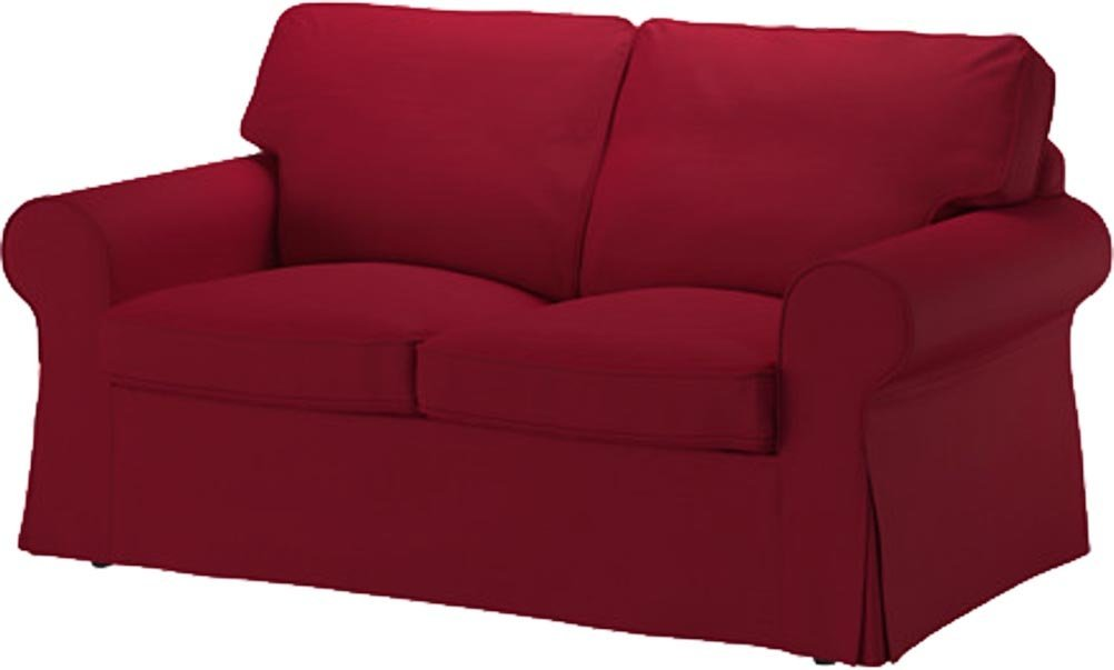 The Wine Red Cotton Rp Loveseat Cover Replacement Is Custom Made For Ikea Sofa A Slipcover
