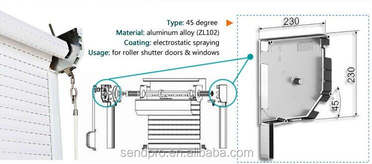 Sendpro Window And Door Motorized Aluminum Roller Shutter