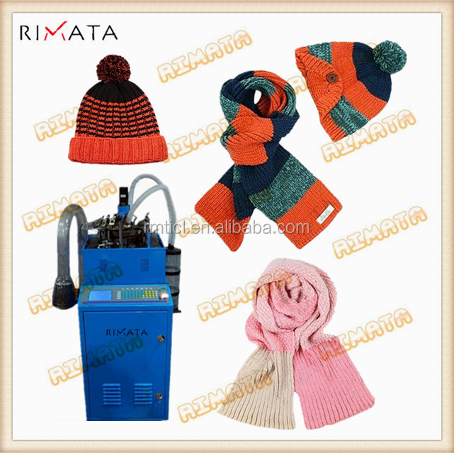 Fully Automatic Jacquard Winter Knitted Beanie Hat Cap Scarf Knitting Machine