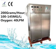 High-tech ozone output 200gram/H (100~145MG/L ; oxygen flow 40LPM) ozonator for air or water