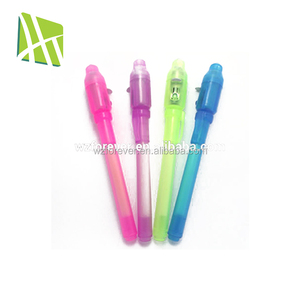2018 HT2038 High Quality Plastic Invisible Pens & UV Light Magic Ink LED Pen
