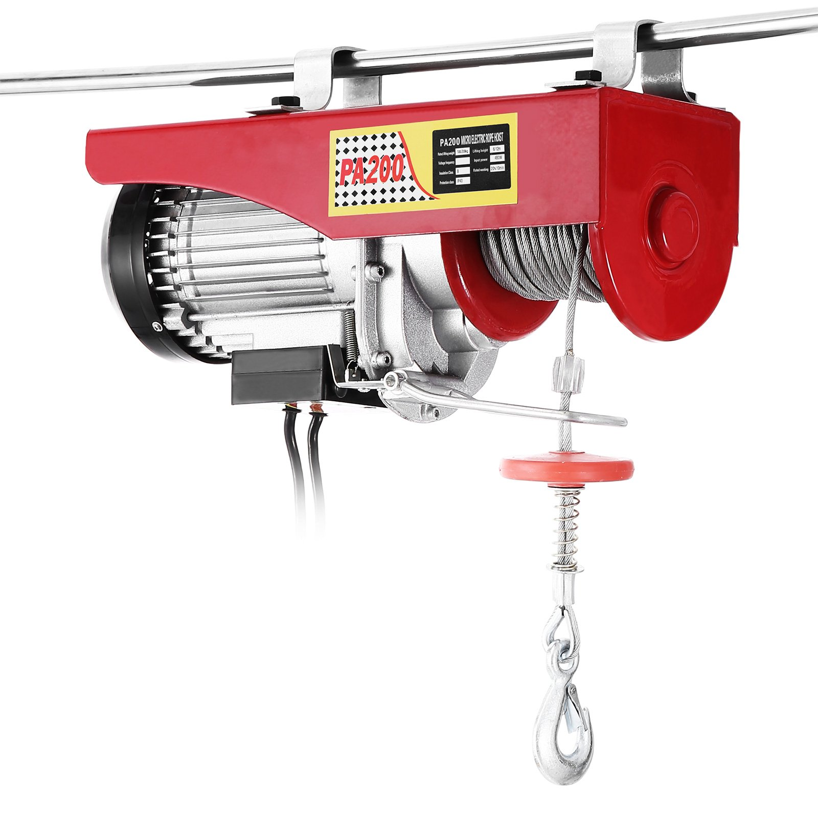 Popsport Electric Hoist 440LBS Electric Hoist Crane 110V 450W Lift Electric Hoist Crane Overhead Garage Winch with Hand Control Auto Lift (440LBS)