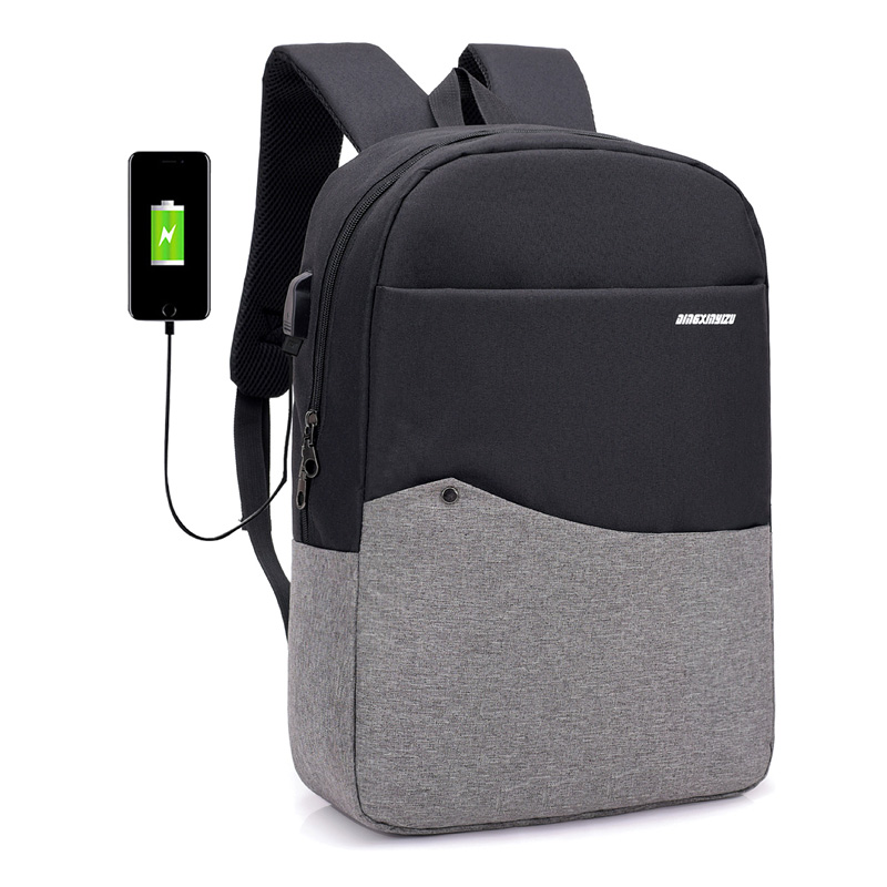 custom fashion anti-theft with USB laptop backpack waterproof soft fabric promotional back bag wholesale
