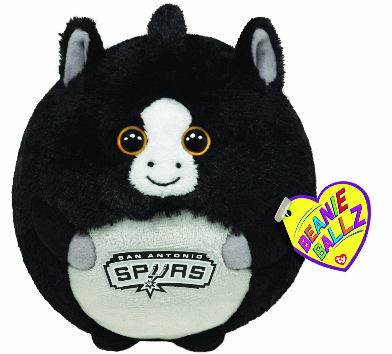 Get Quotations · Ty Beanie Ballz San Antonio Spurs - NBA Ballz b8a6c42ddf0