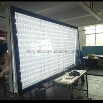 led strip light box outdoor light box big size led backlit light box