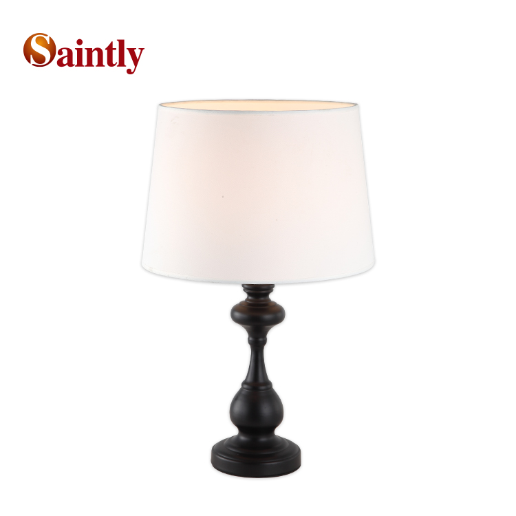 Classic luxury office bedside home decorative metal fabric portable luminaire modern table <strong>lamp</strong> for hotel