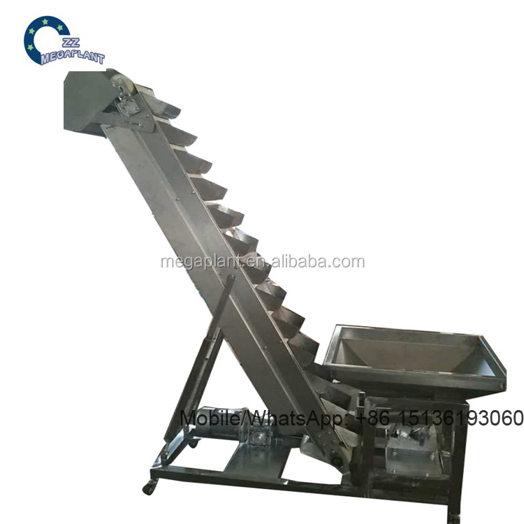 Widely used stainless steel small Inclined bucket elevator