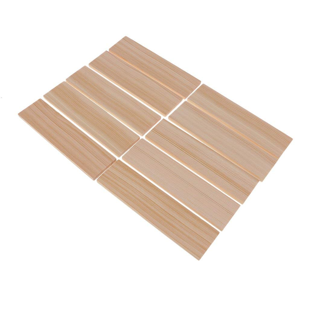 Baosity 10 Pieces Balsa Wood Unfinished Blank Boards Wood Sheets For Crafts, Models & Pyrography Wood Plaque Sign DIY Woodburning Modeling Craft Materials, 150x40x6mm