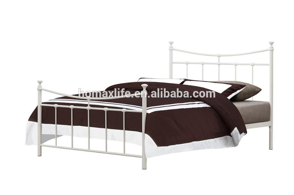 Muebles de metal simple de hierro forjado cama doble db-4720 diseños ...